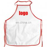 MOQ 100 PCS FOR WHITE POLYESTER CUSTOM LOGO BARBEQUE APRONS