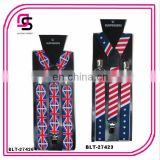 2014 fashion elastic suspender american flag braces