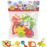 5 Pieces Each Bag Infant Baby Play Set Rattle Teething Ring Toys