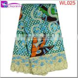 african wax print fabric lace WL025