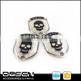 Novel Design Punk Decorations Enamel Shiny Metal Skull Badges Metal Labels Plates for Shirts Jeans Jacket Handbag Bag Apparel
