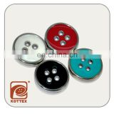 16L - 24L 4 Holes ECO/AZO Friendly ABS Plastic Plating Button With Candy Color Painting Oil For Garment Coat, Sweater