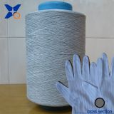 Carbon  conductive  fiber nylon filaments  20D/3F intermingling white nylon  DTY 280D for 13 gauge ESD  knitting gloves XTAA036