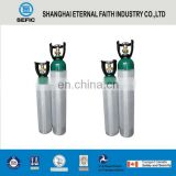 High Quality TPED 0.5L-50L-17E Thread Valve High Pressure Medical O2 Aluminum Gas Cylinder