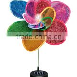 Colorful garden solar windmill light/solar wind spinner