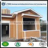 wood grain cladding for prefabricated house