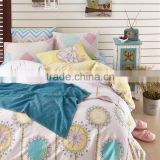 Hot selling high quality 100 cotton flower pattern cartoon bedding set cheap price Chinese bed cover kids bed cover
