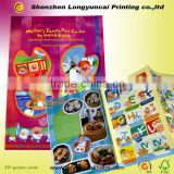 Fancy children magazine printing service with sticker china factory