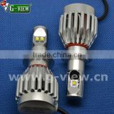 hot sale !!! 8000lm all in one headlight for car 10-30v dc h7 / h8 headlight all in one 6000k-6500k