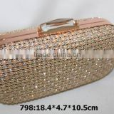 clutch style bead material luxury beaded clutch bag india,mesh crystal&pearl evening bag