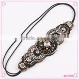 Classic national style bead hair band the queen vintage gemstone hair accessories