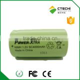 rechargeable battery 4000mah Ni-Mh type SC Size 1.2V battery cell