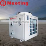 For suitable -25 degree cold area Air water to water source swimming pool heating cooling control heater heat pump