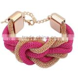 Fashion Ethnic Weave Jewelry Personality Gold Knot Mens Bracelets                                                                         Quality Choice