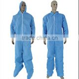 Disposable Protection Gown SMS non woven coverall with hood abd boot