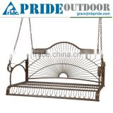 Best Choice Products Leisure Iron Modern Outdoor Patio 3 Seat Double Hanging Swing Chair