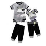 baby romper sets,boys bobysuit with bib,cute cow children clothes set,infant clothing pants set,newborn jumpsuit,boys clothes