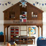 American country style Creative children furniture tree house shape Environment Friendly solid wood bunk bed for customized                                                                         Quality Choice