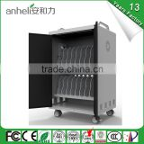 Hot selling laptop charging trolley 16 device built-in cooling fan cell phone charging station