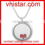Vnistar interchangeable red family heart floating charm for locket wholesale AC175