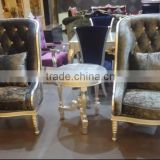 Luxury wooden hotel lobby reception chair XYD150