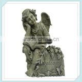 Sexy stone outdoor girl figure sculpture tombstone funeral decorations