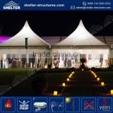 850g/sqm PVC coated new design wedding tent cheap wedding night club decor stage lighting events led stage marquee in large size