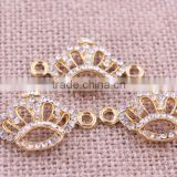 jewelry crown crystal rhinestone connector charms ! wholesale crystal glitter sliver Connector for bracelet beads making!!