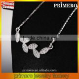 Leaves Chain Necklaces 100% Pure 925 Sterling Silver Jewelry Wholesale