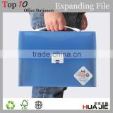 A4 Office file case Translucent Expanding Plastic PP Document file Box Folder with Plastic Handle