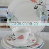 20 pc red flower ceramic dinnerware set,new bone china dinner set,dinnerware set