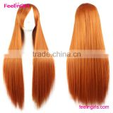 body wave red long hair wigs for cosplay