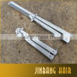 2016 Best Selling Metal Stainless Steel Practice Training Butterfly Balisong Style Knife Comb Hot Sale in Malaysia