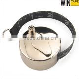 Hand Cranking Handle Metal Case 2Meter Printable Tape Measure Round With You Logo