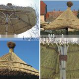 bamboo umbrella with thatch,grass,straw and reed roof