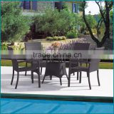 Outdoor garden PE rattan wicker round dining table and chairs set JJ-031TC                                                                         Quality Choice