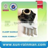 High Quality Threaded PP Saddle Clamp for PVC Pipe Fitting