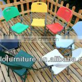 Offer Hot Selling Outdoor Furniture High Quality HDPE Plastic White Garden Folding Chair