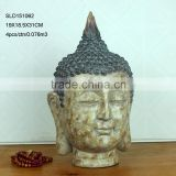 Home decoration big resin buddha head for sale