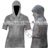 MEDIEVAL CHAINMAIL SHIRT & COIF ARMOR SET - FULL SIZE