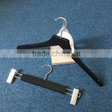 Black wooden hanger bottom hanger wooden hanger DL High quality custom black wooden hanger for suit