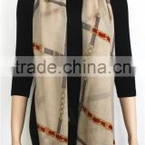 Chain Printed Light Wool Scarf