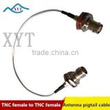 Factory Price Bulk head TNC female to TNC female rg178/rg316 low loss electric pigtail cable