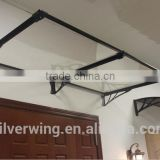 Silver Wing 124 x 80 cm Outdoor Garden Aluminum metal Door Canopy Terrace roof Canopy Awning