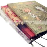 A5 cloth cover with 4c printing students notebooks diaries