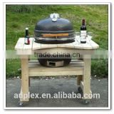 2016 Newest 21' kamado bbq grill /ceramic charcoal bbq grill with wooden table                                                                         Quality Choice