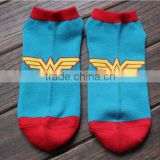 comfortable feeling superman light blue ankle socks