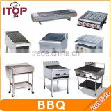 commercial stainless steel restaurant gas or electric charcoal barbecue bbq grill for party
