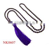 Fashion New arrivel natural stone bead violet turquoise necklace, beaded collar necklace