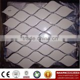 IMARK Leaf Shape Design New Design White Color Ceramic Mosaic Tile/Modern Kitchen Tile